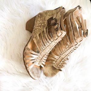 Gold Gladiator style heel